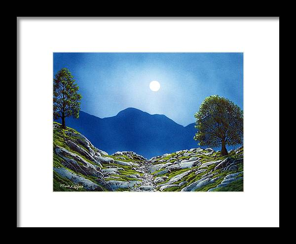 Landscape Framed Print featuring the painting Moonrise by Frank Wilson