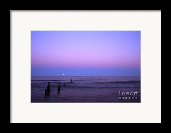 Moon Framed Print featuring the photograph Moonrise by Timothy Johnson