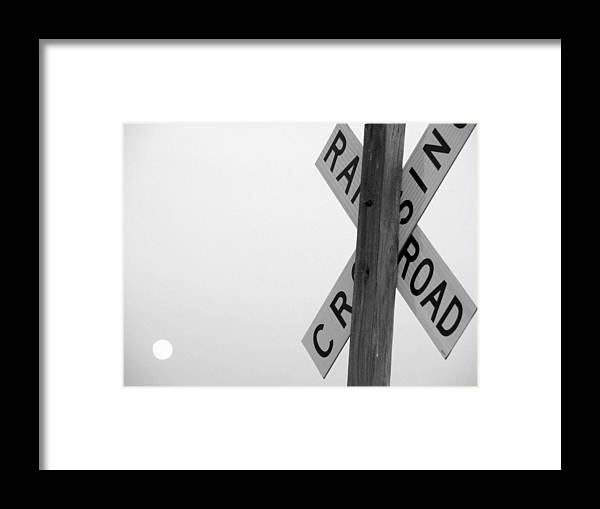 Crossing Framed Print featuring the photograph Moonshine Crossing by Edward Smith