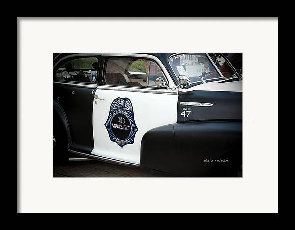 Chevrolet Framed Print featuring the photograph Moonshine Patrol by DigiArt Diaries by Vicky B Fuller