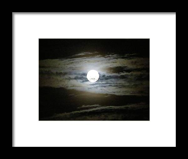 Moon Framed Print featuring the photograph Moonstruck by Janice Petrella-Walsh