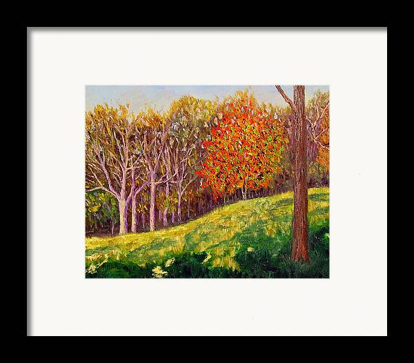 Landscape Framed Print featuring the painting Mooresville 10 11 by Stan Hamilton