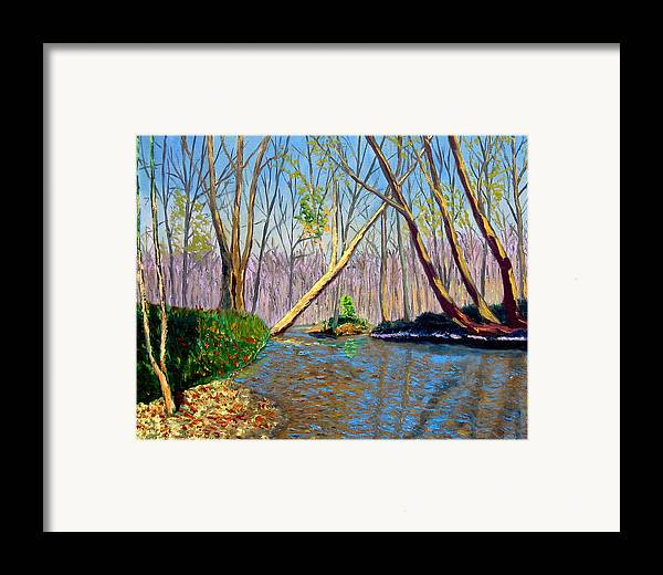 Landscape Framed Print featuring the painting Mooresville 11 2 by Stan Hamilton