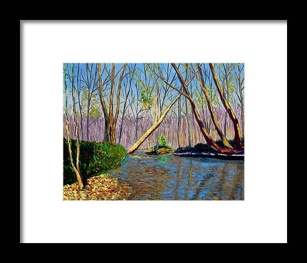 Creek Framed Print featuring the painting Mooresville November by Stan Hamilton
