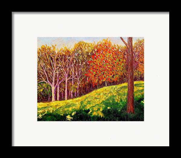 Autumn Framed Print featuring the painting Mooresville October by Stan Hamilton