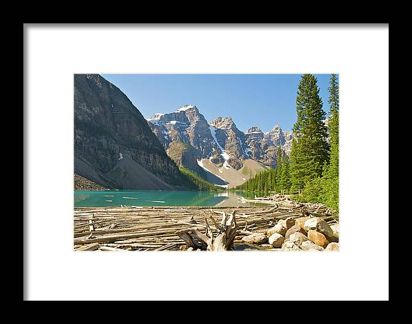 Moraine Lake Framed Print featuring the photograph Moraine Lake - Canadian Rockies by Andre Distel