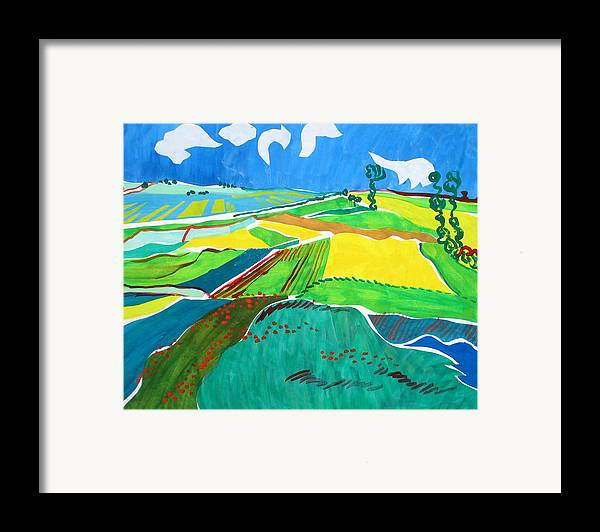Landscape Framed Print featuring the painting Moravian Landscape by Vitali Komarov