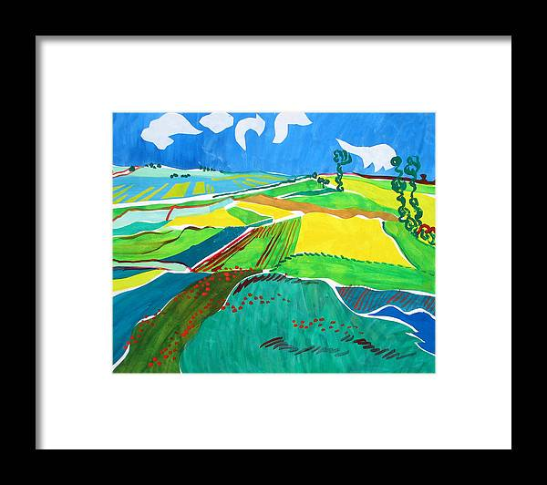 Landscape Framed Print featuring the painting Moravian Landscape by Vitali Komarov