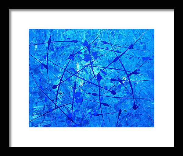 Abstract Painting Framed Print featuring the painting It's An Ice Life by J R Seymour