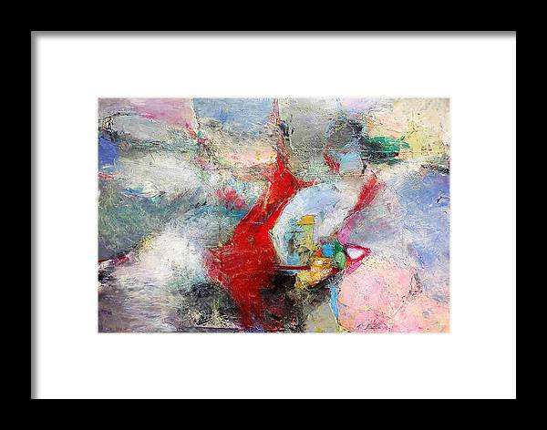 Abstract Expressionist Framed Print featuring the painting More Joy Everyday by Cheryl Johnson ARTIST
