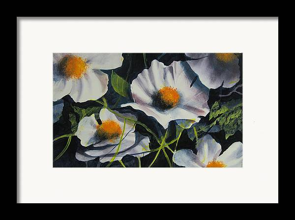 Floral Framed Print featuring the painting More Poppies by Robert Carver