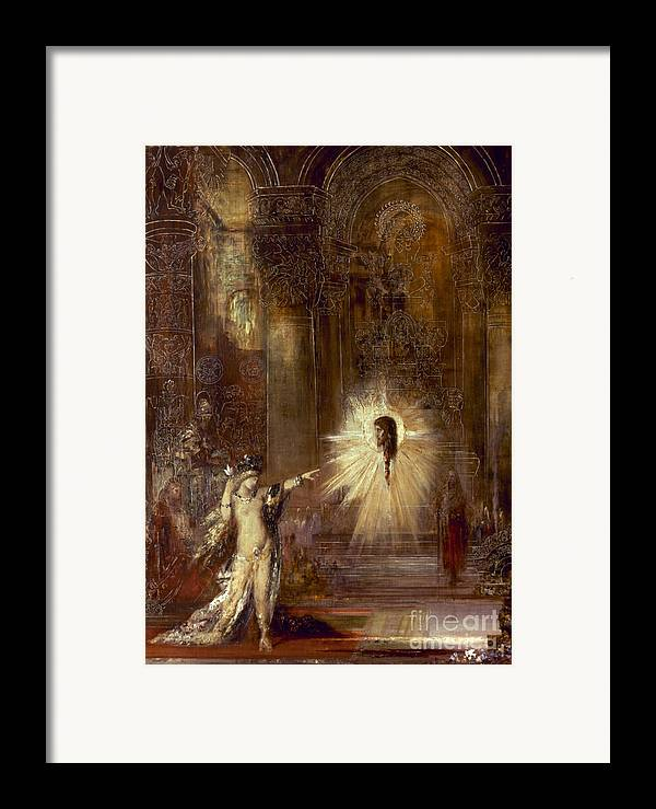1876 Framed Print featuring the painting Moreau: Apparition, 1876 by Granger