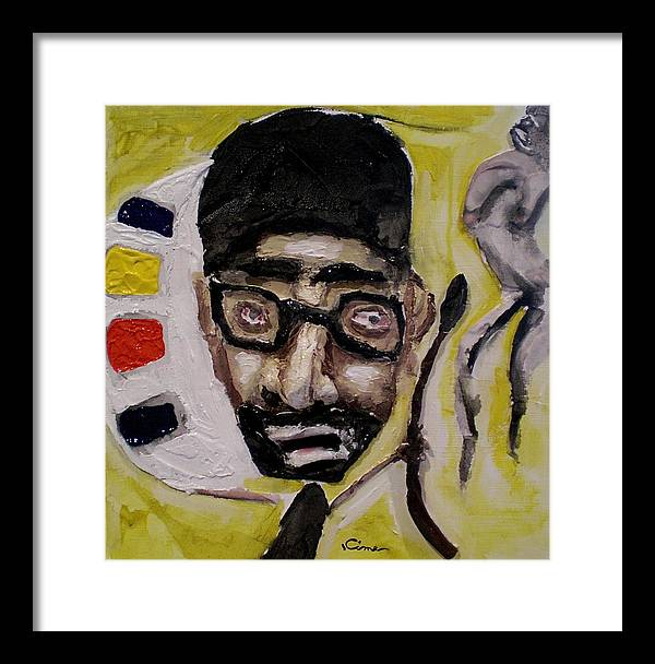 Portrait Framed Print featuring the painting Morgan by Kime Einhorn