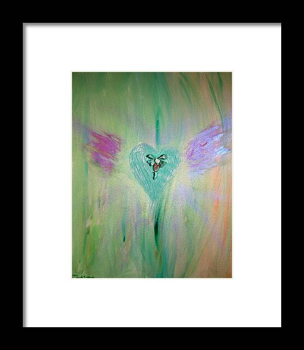 Abstract Framed Print featuring the mixed media Morgan Le Fey by Emerald GreenForest