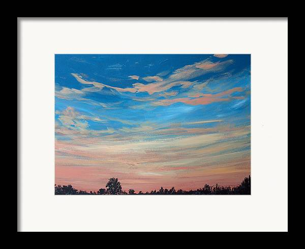 Sunrise Framed Print featuring the painting Mornin Iv by Pete Maier