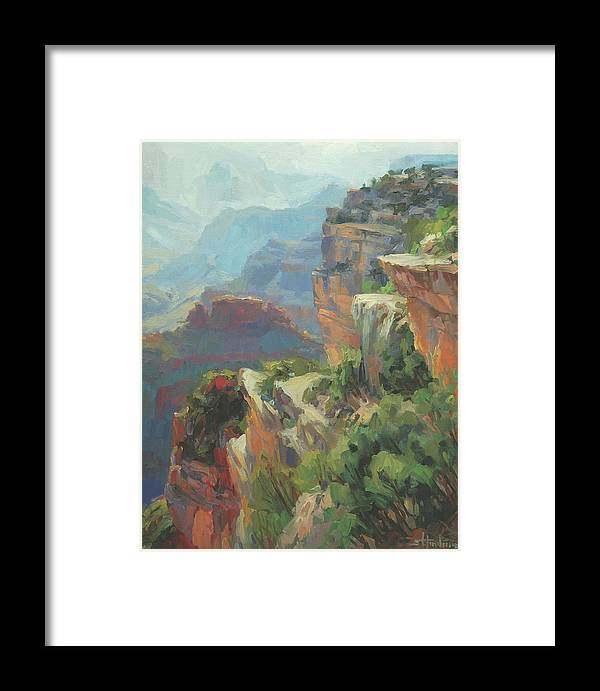 Southwest Framed Print featuring the painting Morning At Hopi Point by Steve Henderson