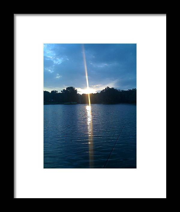 Water Framed Print featuring the photograph Morning At The Lake by Jenny Hunter