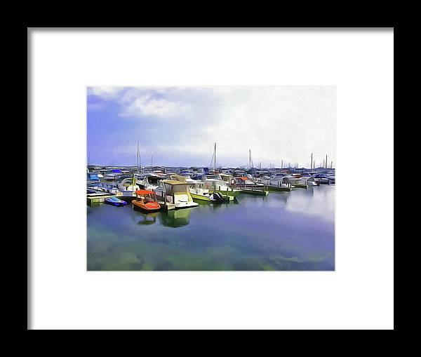 Cedric Hampton Framed Print featuring the photograph Morning At The Marina 2 by Cedric Hampton