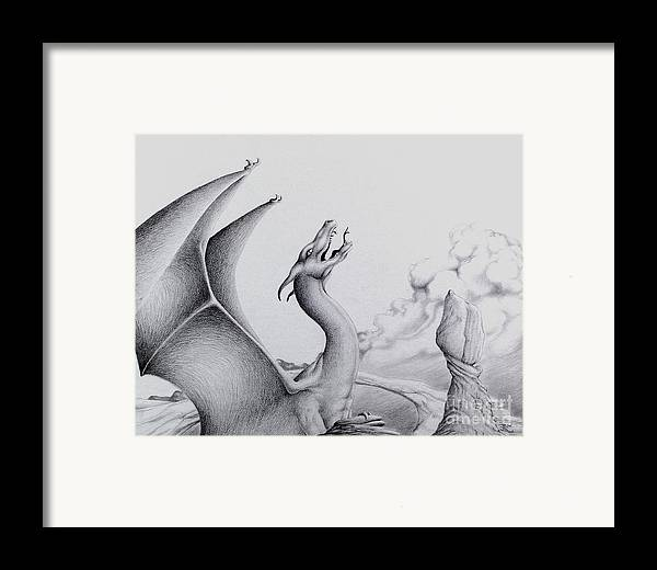 Dragon Framed Print featuring the digital art Morning Bellow by Robert Ball