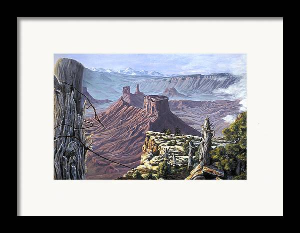Landscape Framed Print featuring the painting Morning Boundaries by Page Holland