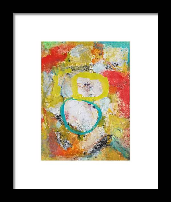 Abstract Framed Print featuring the painting Morning Calm by Patricia Byron