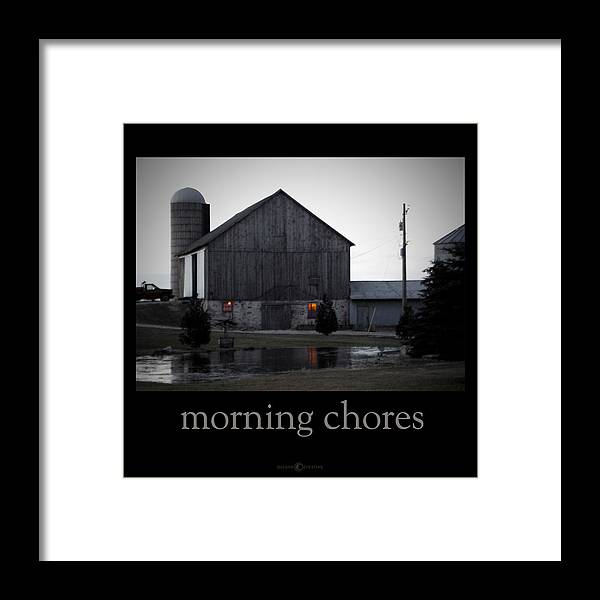 Poster Framed Print featuring the photograph Morning Chores by Tim Nyberg
