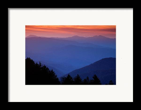 Smokies Framed Print featuring the photograph Morning Colors In The Smokies by Andrew Soundarajan