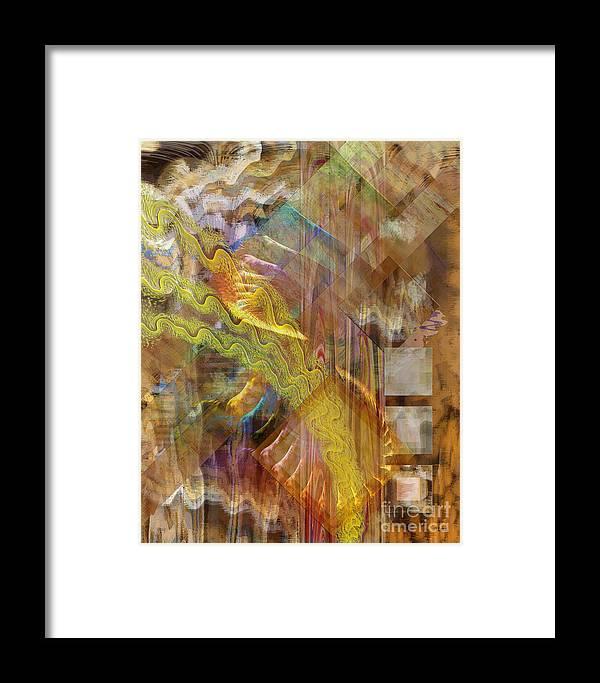 Morning Dance Framed Print featuring the digital art Morning Dance by John Beck