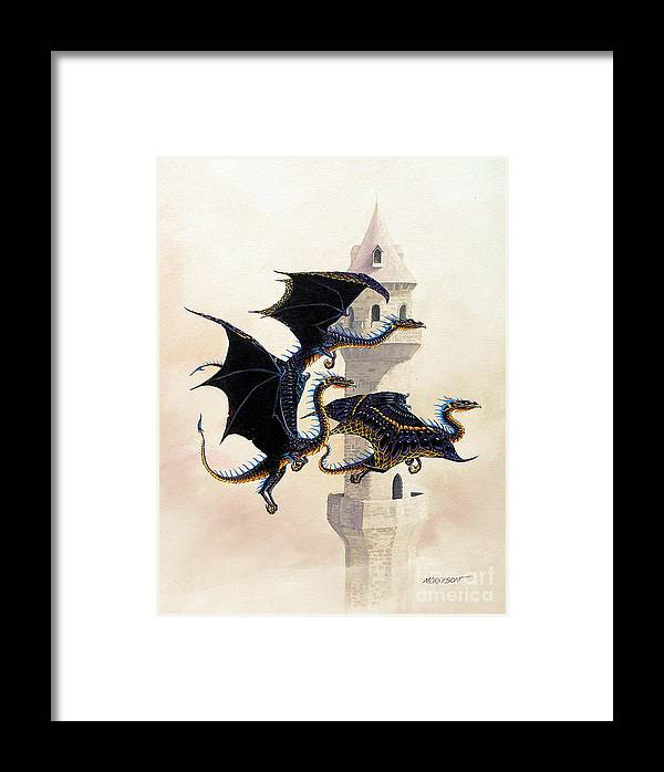 Dragon Framed Print featuring the painting Morning Flight by Stanley Morrison