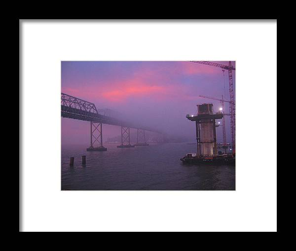Water Framed Print featuring the photograph Morning Fog by Jerry Patchin