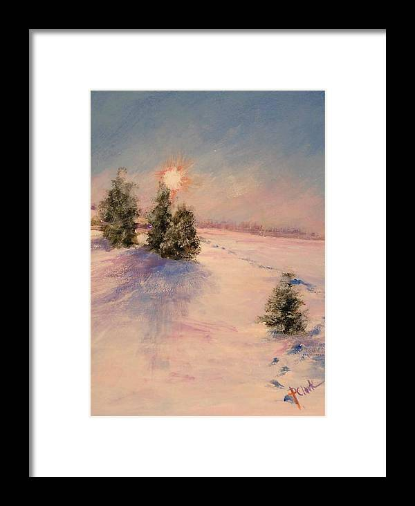 Sunrise Framed Print featuring the painting Morning Frost by Donna Pierce-Clark