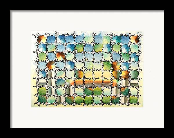 Watercolor Framed Print featuring the painting Morning Gateway by Dave Martsolf