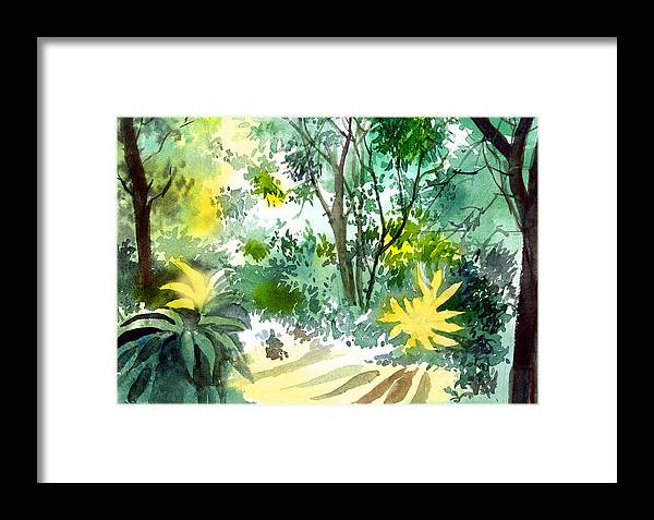 Landscape Framed Print featuring the painting Morning Glory by Anil Nene