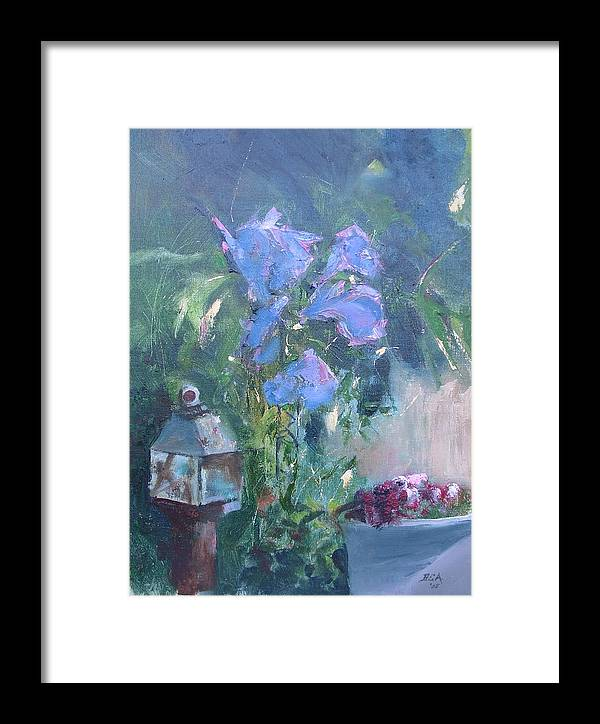 Flowers. Garden Framed Print featuring the painting Morning Glory by Bryan Alexander