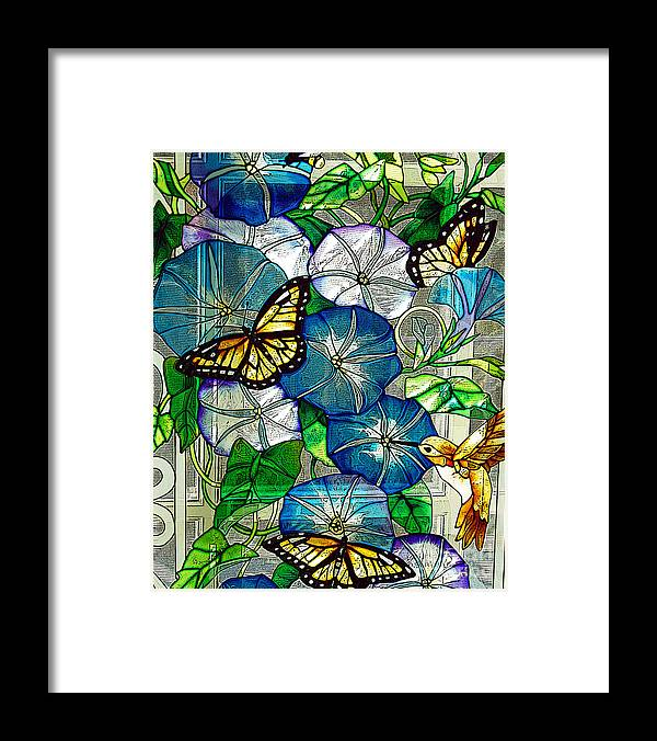 Berry Framed Print featuring the photograph Morning Glory by Diane E Berry