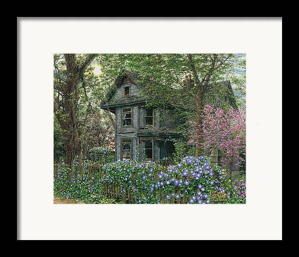 Old House Framed Print featuring the painting Morning Glory by Doug Kreuger