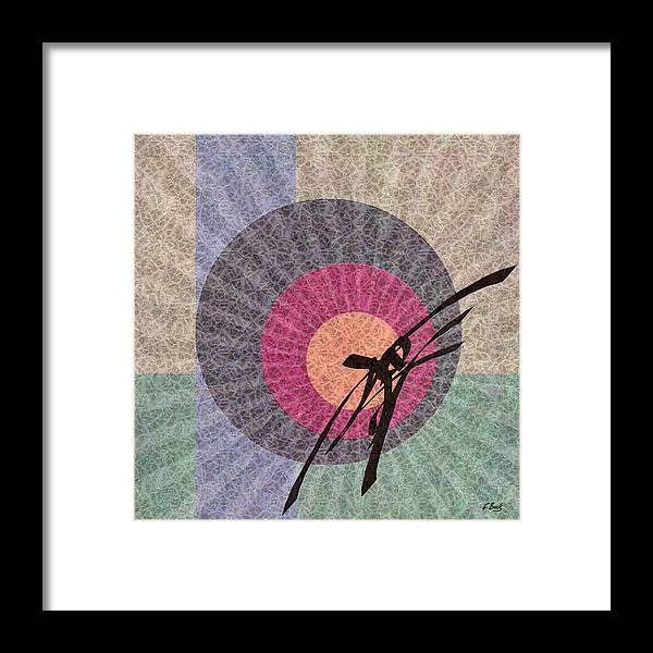 Contemporary Asian Japanese Oriental Abstract Design Gordon Beck Art Framed Print featuring the painting Morning Glory by Gordon Beck