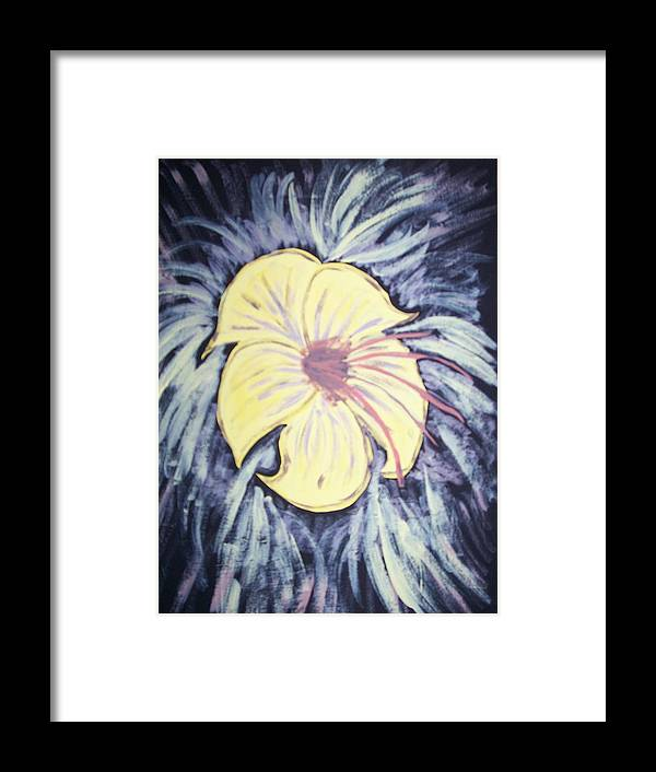 Flower Framed Print featuring the painting Morning Glory by Laura Lillo