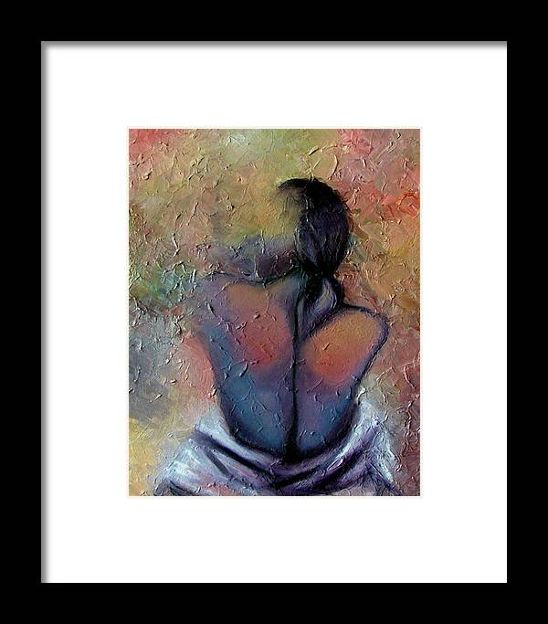 Abstract Framed Print featuring the painting Morning Glow by Elizabeth Lisy Figueroa