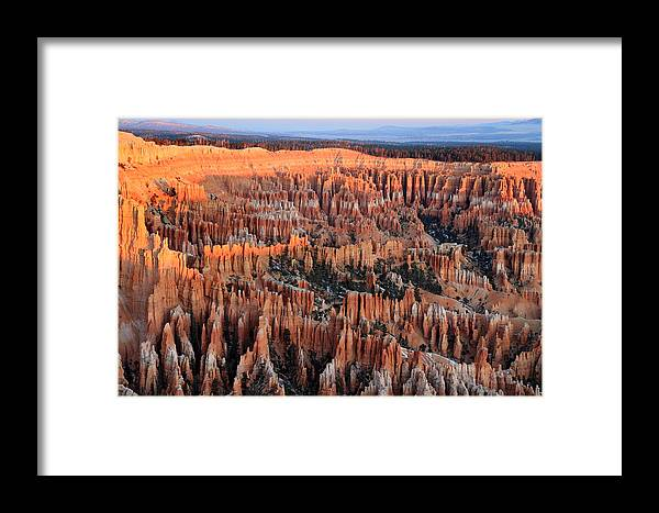 Bryce Framed Print featuring the photograph Morning In Bryce Canyon by Pierre Leclerc Photography