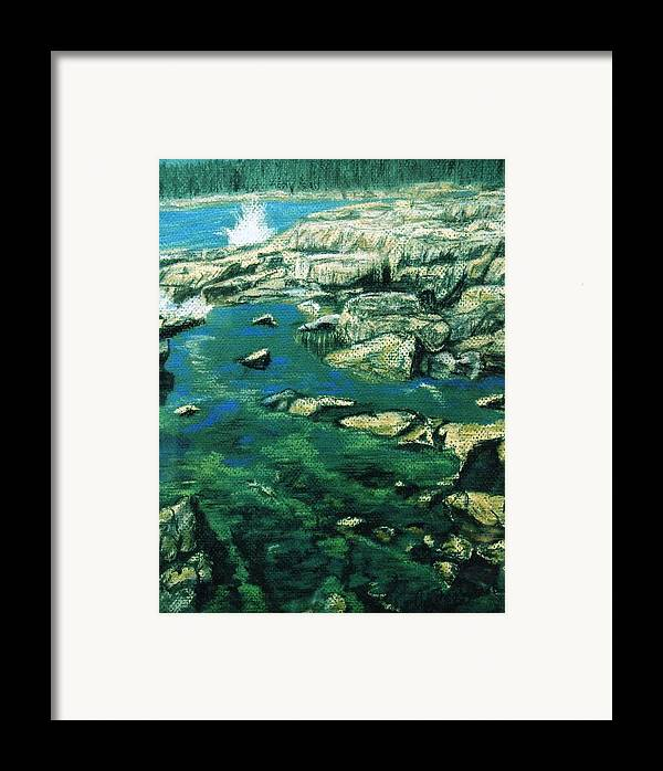 Pastel Framed Print featuring the painting Morning In Maine by Cynthia Ann Swan
