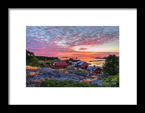 Archipelago Framed Print featuring the photograph Morning In The Archipelago Sea by Veikko Suikkanen