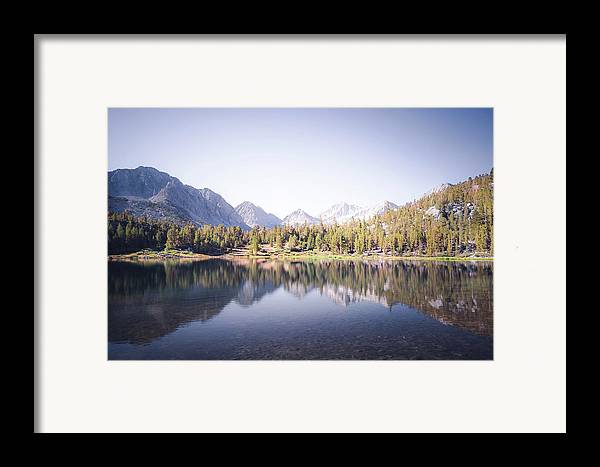 California Framed Print featuring the photograph Morning Light At Heart Lake by Alexander Kunz