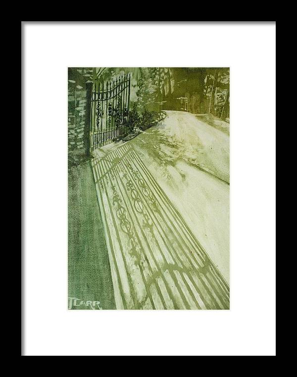 Green Framed Print featuring the painting Morning Light by Elizabeth Carr