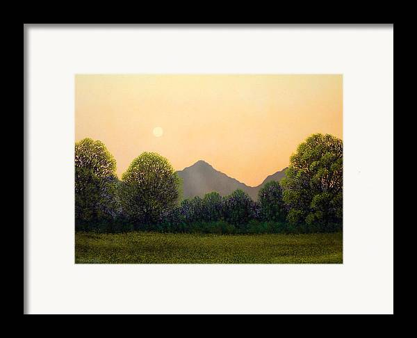 Landscape Framed Print featuring the painting Morning Light by Frank Wilson