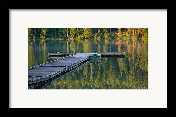 Dock Framed Print featuring the photograph Morning Light by Idaho Scenic Images Linda Lantzy