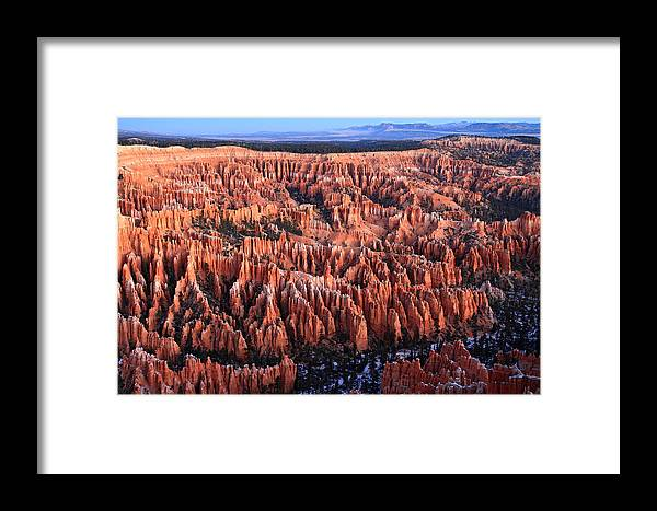 Bryce Framed Print featuring the photograph Morning Light In Bryce Canyon by Pierre Leclerc Photography