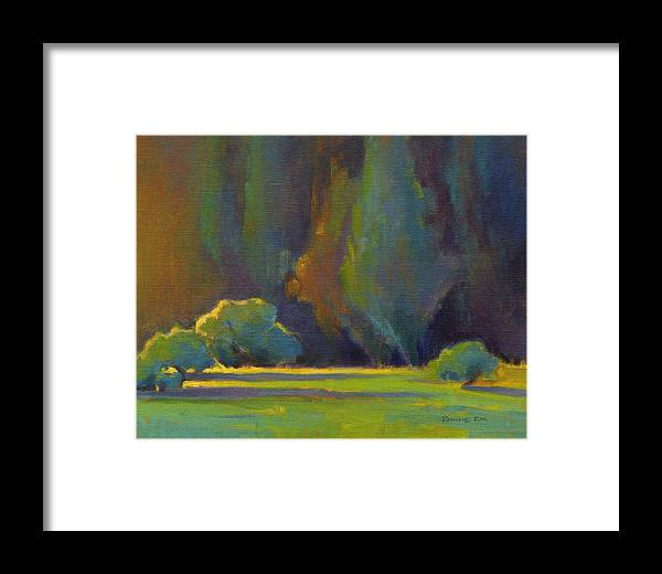 Trees Framed Print featuring the painting Morning Light by Konnie Kim