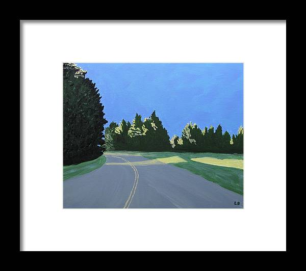 Landscape Framed Print featuring the painting Morning Light Uma by Laurie Breton