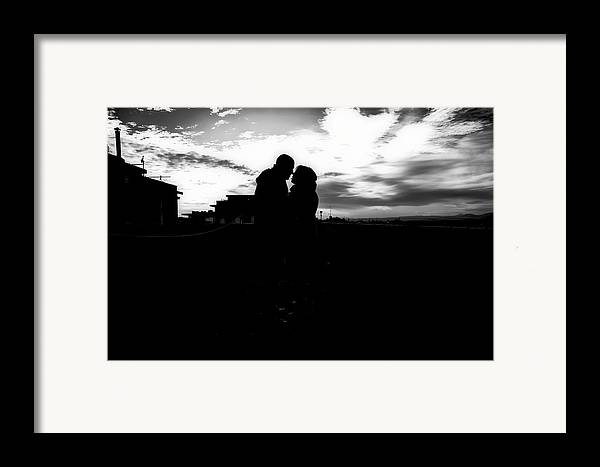 Black And White Framed Print featuring the photograph Morning Love by Uros Zunic